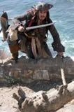 Fliehender Pirat Stockbilder