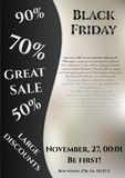 Flier for day of Black Friday. Great sale, large discounts Stock Images