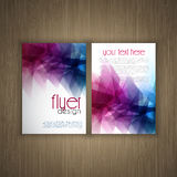 Flier design on wood background Stock Photography