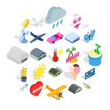 Flier icons set, isometric style vector illustration