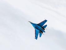 Flies Su-27 Stock Image