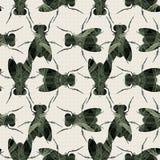Flies texture. Abstract decorative flies texture background. Seamless pattern. Illustration. Vector Stock Image