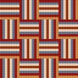 Fliese Ähnliches abstraktes geometrisches nahtloses Musterdesign Stockfotografie