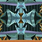 Fliese mit geometrischem Muster Stockbild
