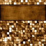 Fliese-Mosaik und Fahne vektor abbildung