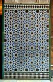 Fliesen glasiert, azulejos, Alcazar in Sevilla, Spanien Stockbild