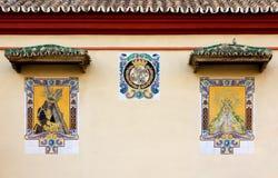 Fliesen-Malereien auf Santo Domingo Church Exterior Wall in Màlaga Stockbilder