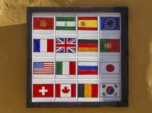 Fliesen von Flaggen stockfoto