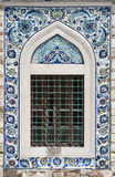 Fliesen von Konak-Moschee in Izmir Stockbild