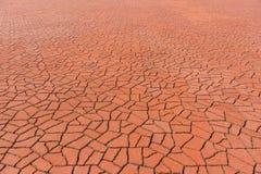 Fliesen-Ziegelsteinboden Form der Perspektive brauner abstrakter für Beschaffenheit und Hintergrund Lizenzfreie Stockfotografie