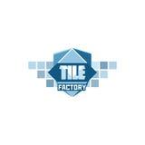 Fliesenfabrik-Logoschablone Stockfoto