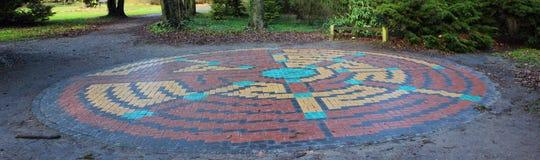 Fliesenlabyrinth Stockfotografie