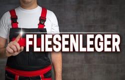 Fliesenleger (in German Tiler) Touchscreen Is Shown By Craftsman