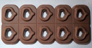 Fliesenschokoladen Herz-förmig Lizenzfreie Stockfotografie