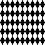 Fliesenschwarzweiss-Hintergrund oder Vektormuster Stockbild