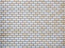 Fliesenwand Block-Muster Hintergrund Lizenzfreies Stockbild