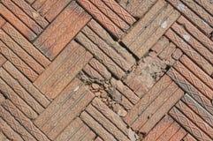 Flieseziegelsteinfußboden Stockfoto
