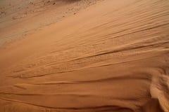 Fliessender-Sand in Sossusvlei-Bereich Lizenzfreies Stockfoto