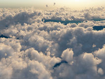 Flight above the clouds Stock Image