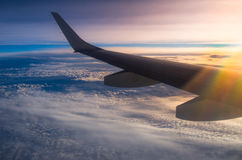 Flight above clouds Royalty Free Stock Photo