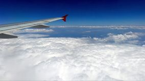 Flight above the clouds stock video