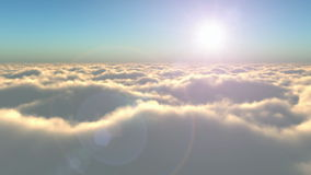 Flight above the clouds stock video footage