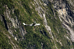 Flight above Fiordland Royalty Free Stock Photo