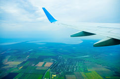 Flight above a ground. In the sky Royalty Free Stock Photos