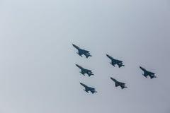 In flight. Stock Images