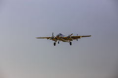B-25 Mitchell bomber in flight. Royalty Free Stock Image