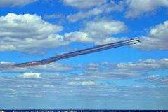 Flight of aircrafts Stock Photo