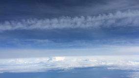 The flight airplane above  a clouds stock video footage