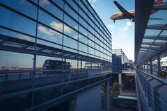 Flight on the airport terminal in shanghai Stock Photography