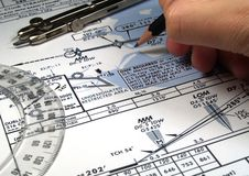 Flight analysis Stock Images