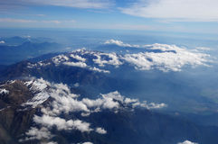 Flight Andes mountain Stock Photo