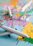 Flight around the world Stock Photos