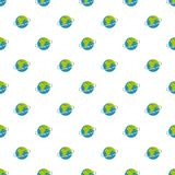 Flight around world pattern seamless. In flat style for any design Stock Image
