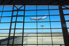 Flight arrival. In beijing capital international airport Royalty Free Stock Photography