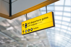 Flight, arrival and departure  board at the airport, Royalty Free Stock Images