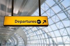 Flight, arrival and departure  board at the airport, Royalty Free Stock Photography