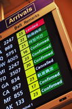 Flight arrival information Royalty Free Stock Photography