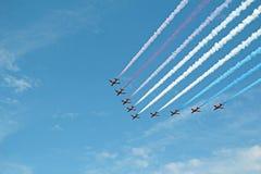 Flight of the arrows Stock Photo