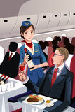 Flight attendant royalty free stock images