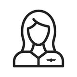 Flight Attendant. Flight, attendant, crew icon vector image. Can also be used for airport. Suitable for mobile apps, web apps and print media Royalty Free Stock Image