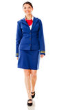 Flight attendant walking Stock Photography