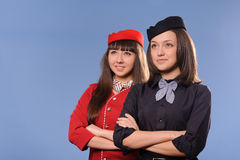 Flight attendantes Royalty Free Stock Photos