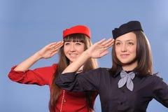 Flight attendantes Royalty Free Stock Photos