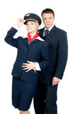 Flight attendants Stock Image
