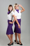 Flight attendants Stock Photography