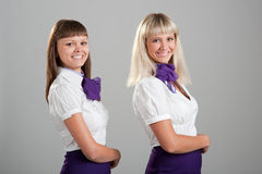 Flight attendants Royalty Free Stock Images